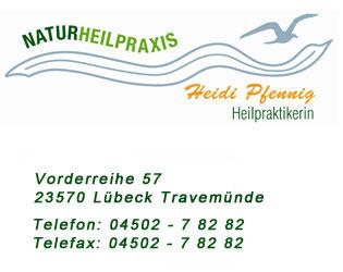 Heidi Pfennig - Heilpraktikerin in Lübeck Travemünde